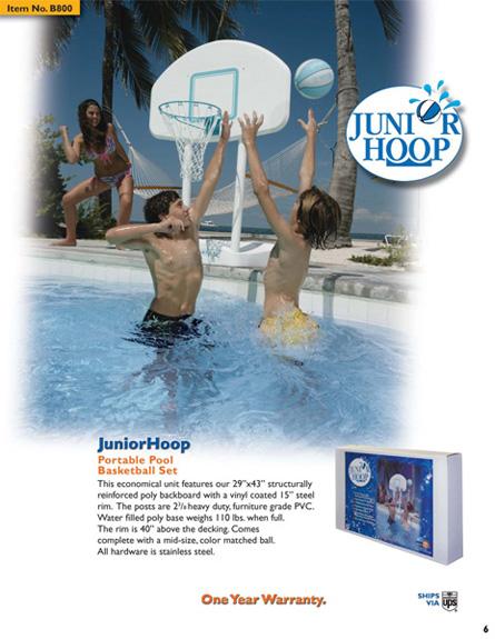 Spa Mechanics Junior Hoop Portable Pool Basketball Set